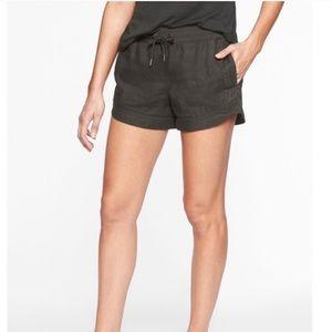 Athleta Bali linen shorts in dark grey